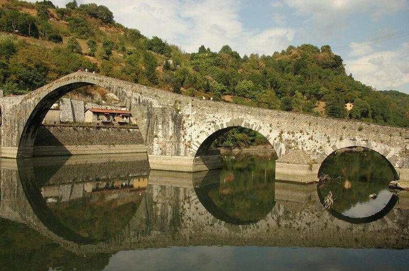 Ponte della Maddalena in Borgo a Mozzano, Italy