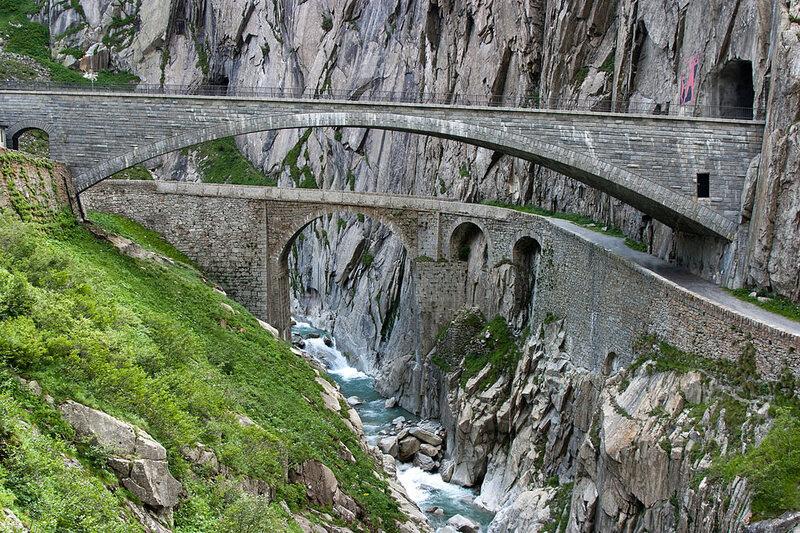Teufelsbrücke, or Devil's Bridge