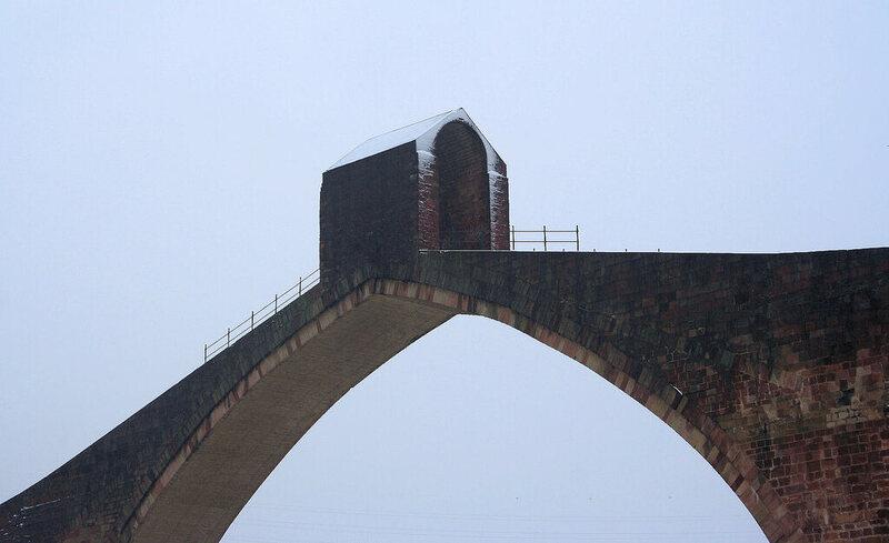 Puente del Diablo, or Devil's Bridge, in Martorell, Spain