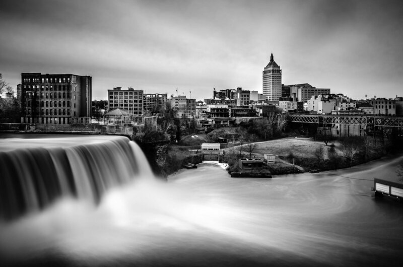 The High Falls of the Genessee River in Rochester