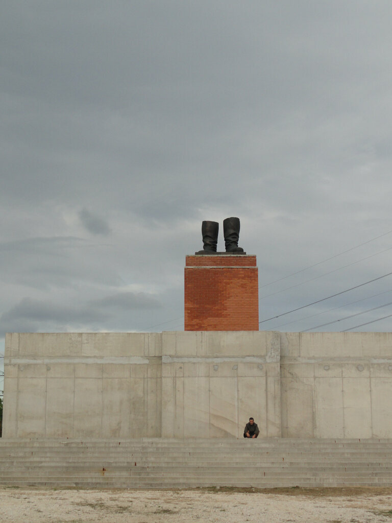 Stalin's boots in Memento Park in Budapest