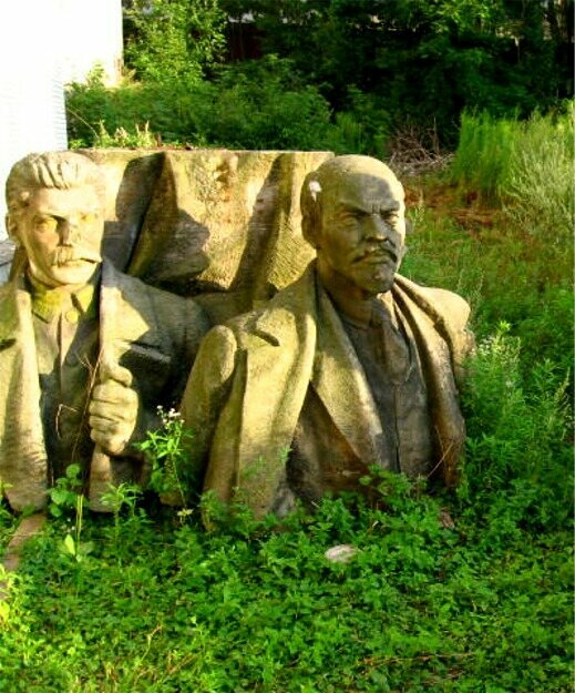 Stalin and Lenin in Czech Republic