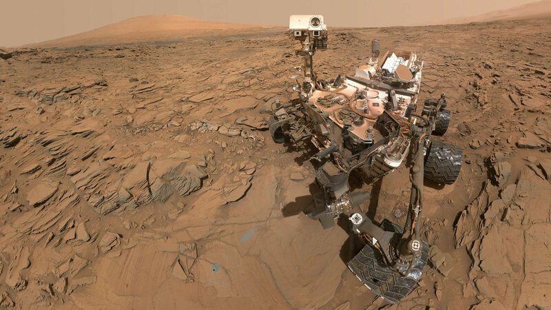 A selfie from the Curiosity Rover, taken earlier this year.