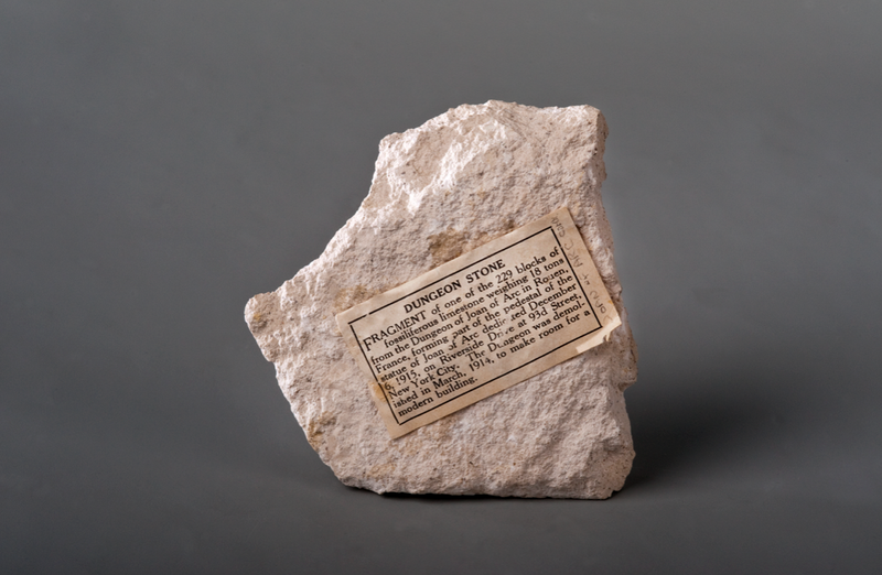 Stone from the dungeon of Joan of Arc