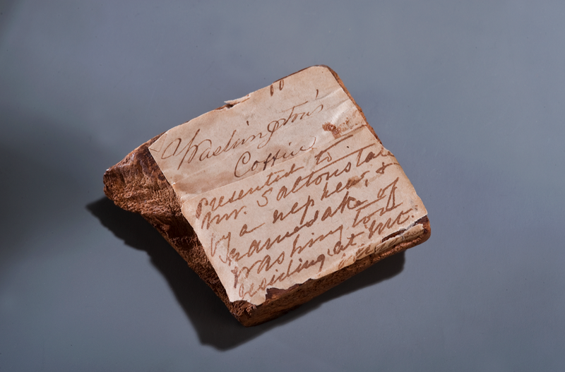 A piece of George Washington's coffin
