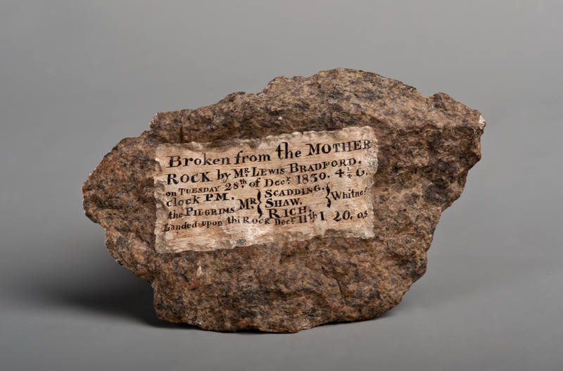 A piece of Plymouth Rock collected in 1830