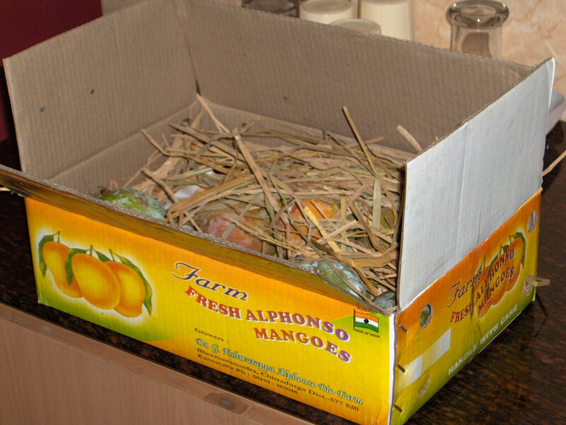 Box of Alphonso mangoes