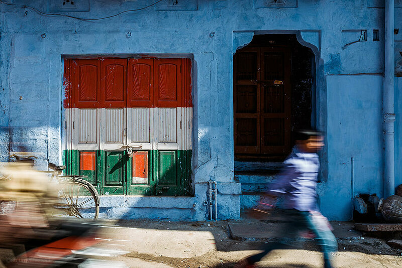 A street view of a home in Jodhpur. (Photo: