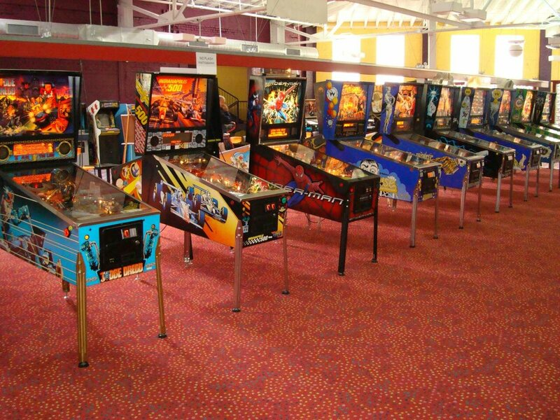 Hundreds of machines are setup for the tournaments.