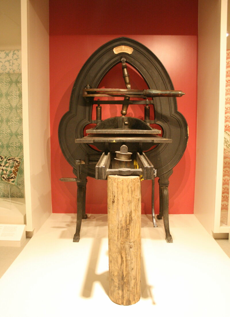 An acorn press, on display at the Cape Ann Museum.