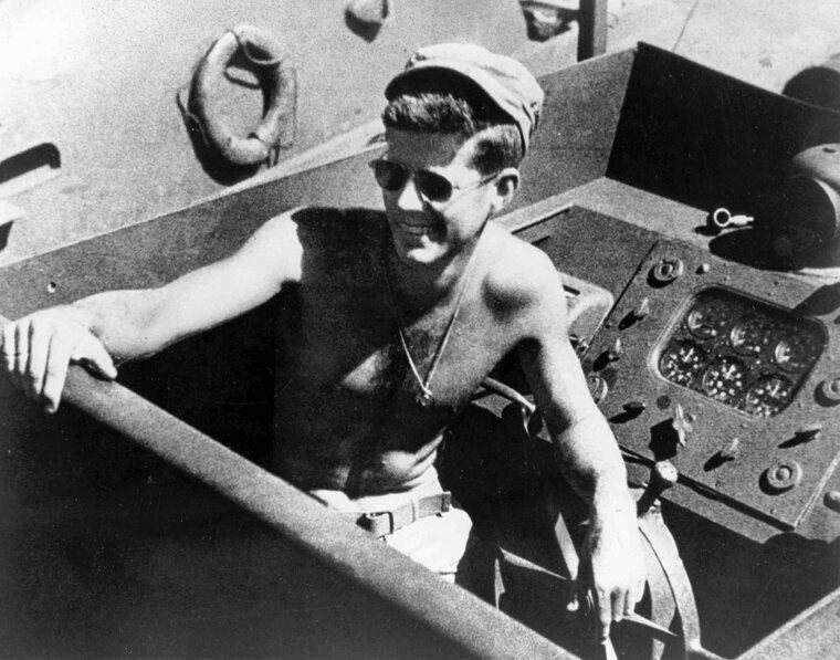 A young JFK in the South Pacific.