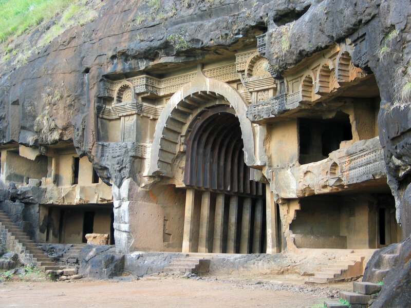 Temples Inside Caves Are What Remains of an Ancient Buddhist