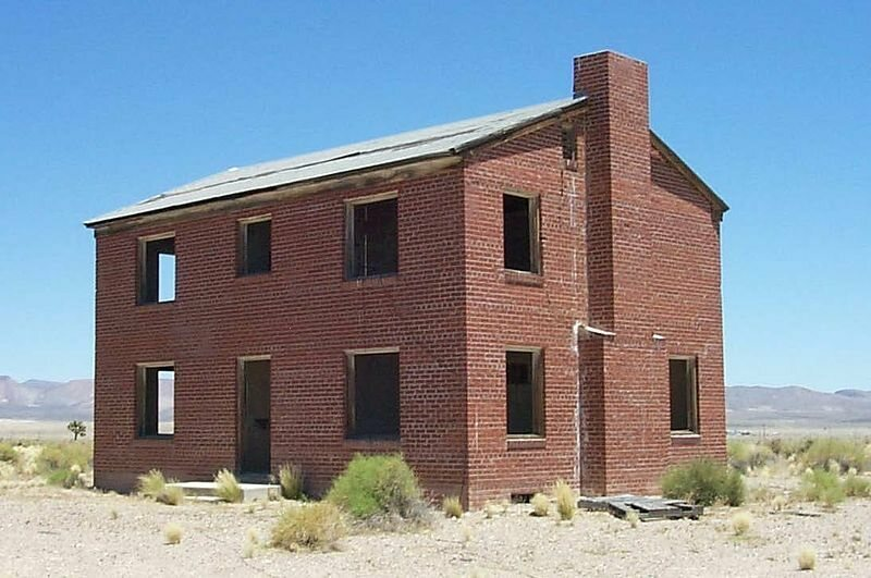 Brick house at the Nevada Test Site