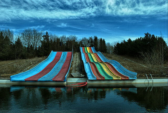 Denmark abandoned water slide