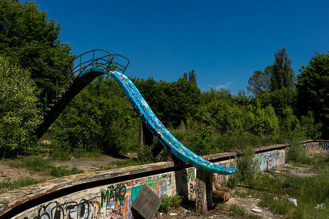 Abandoned water slide