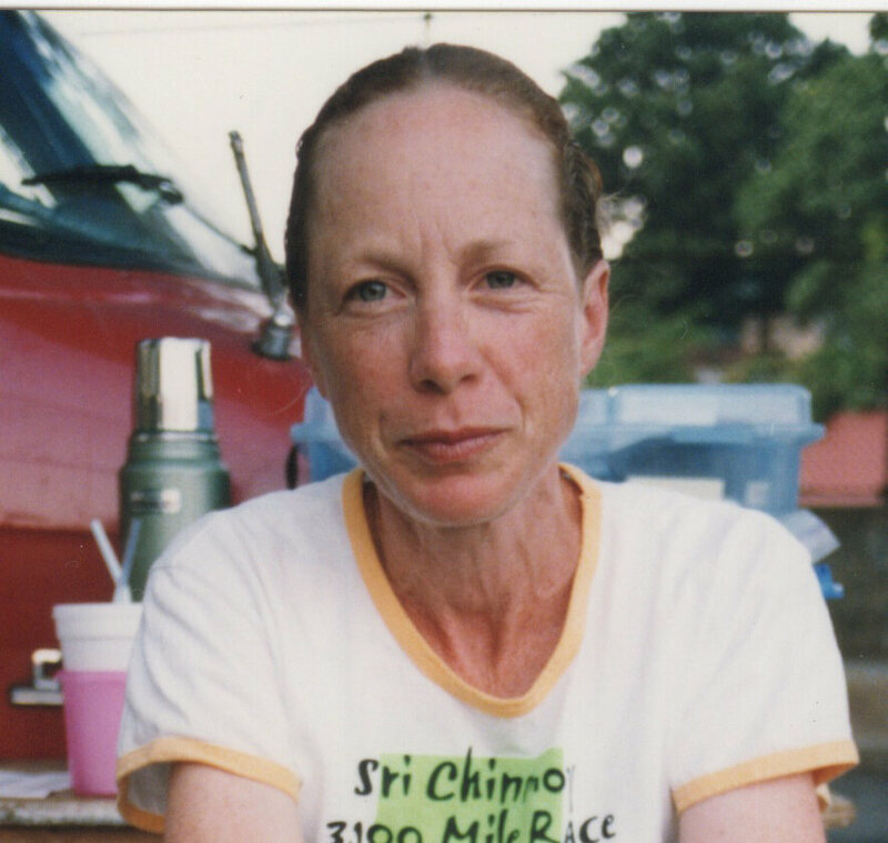 Suprabha Beckjord, on Day 43 of 2003's 3100-mile race.