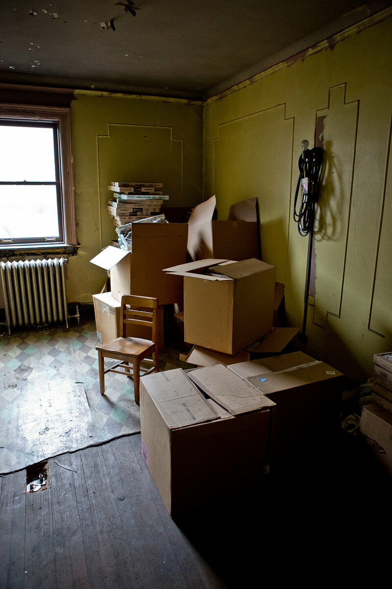 Inside The New York Public Librarys Last Secret Apartments Atlas Flats Joyce Pink Another Bedroom Used For Storage