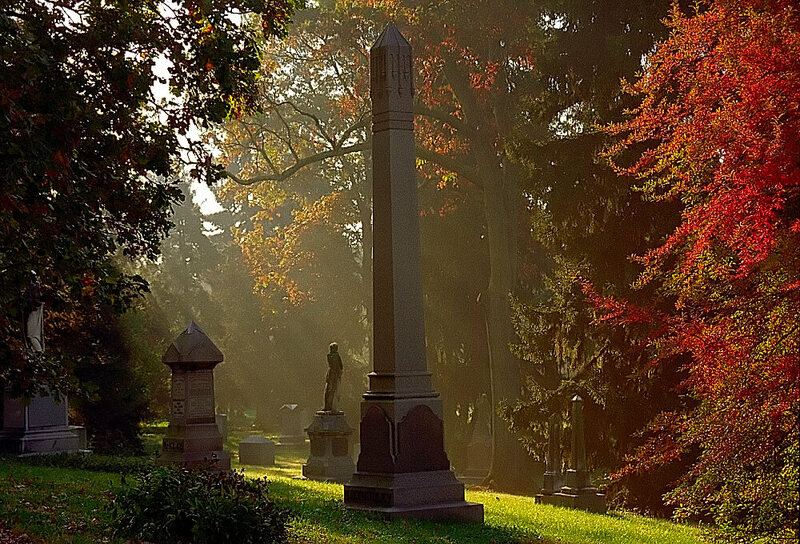 Monuments at Spring Grove Cemetery.