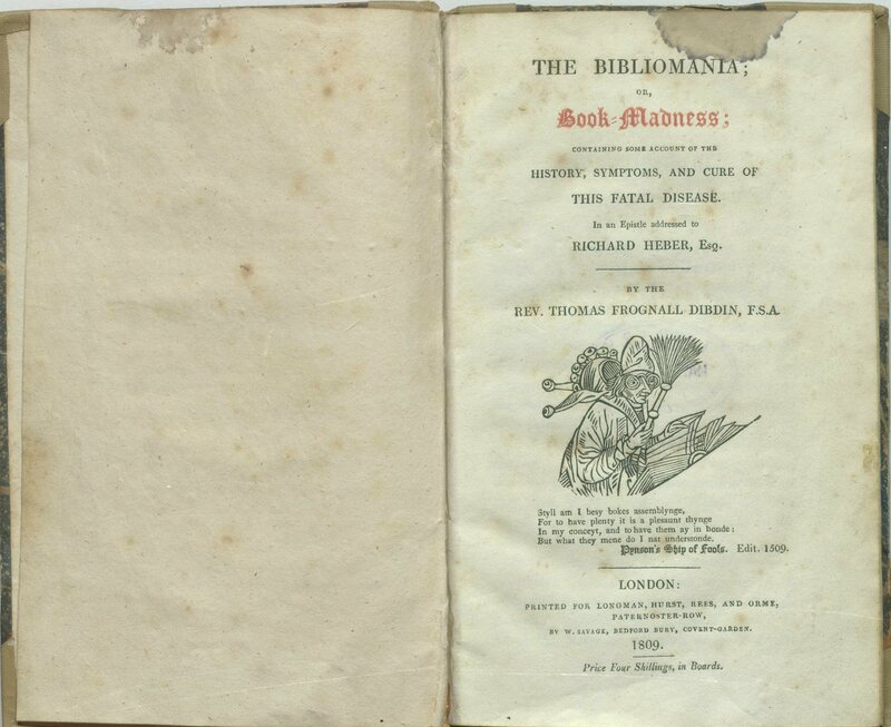 The first edition of <em>Bibliomania; or Book Madness</em> published in 1809 is regarded as one of the most famous descriptions of bibliomania and book collecting in the 1800s.