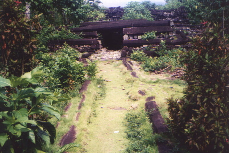 Ruins of Nan Mandol at island of Pohnpei.