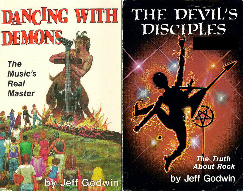 "Some of the books that would ""expose the sinister nature of rock and roll music""."