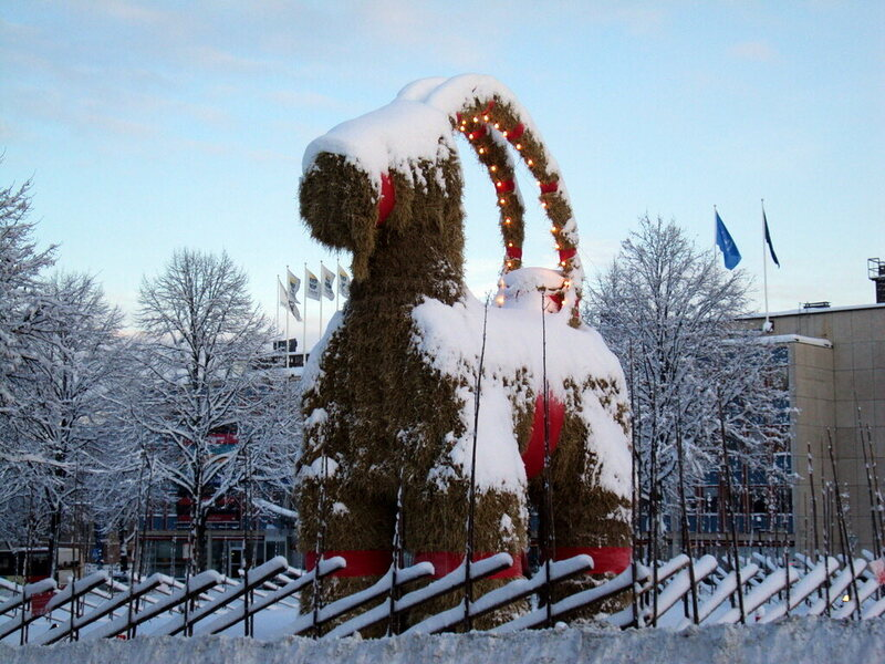 The 2009 Gävle Goat, which made it to December 23rd.