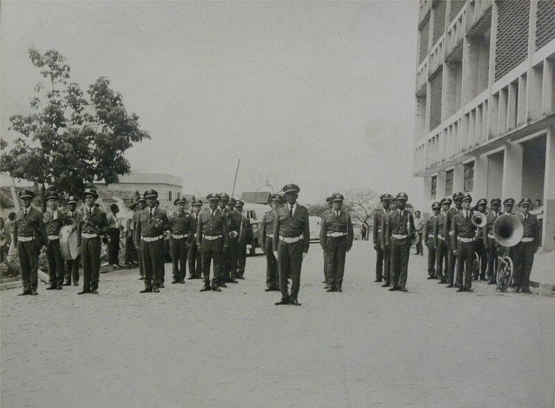 A vintage photograph of Rio de Janeiro's Civil Guard band.