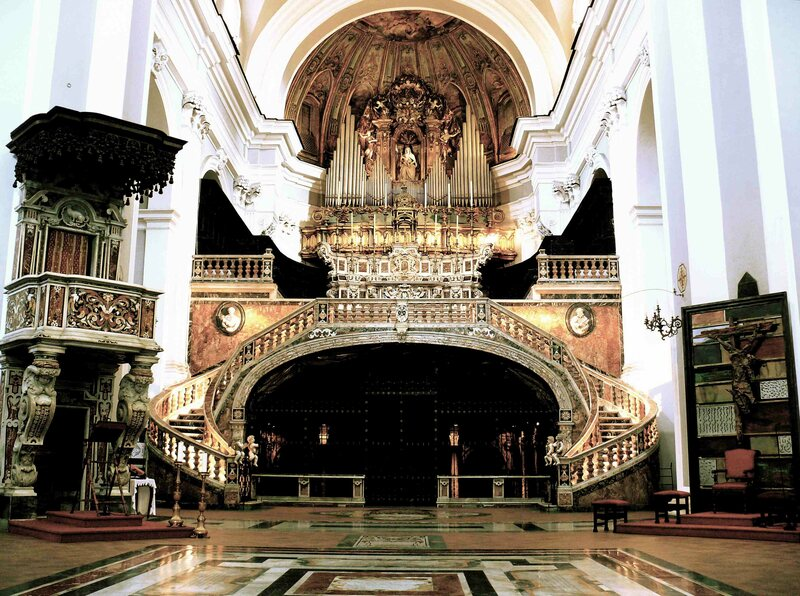 An interior view of the Basilica of Santa Maria della Sanita.