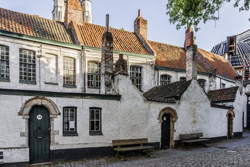 St Elisabeth Beguinage, Kortrijk, Belgium.