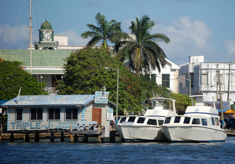 Belize City Harbor.