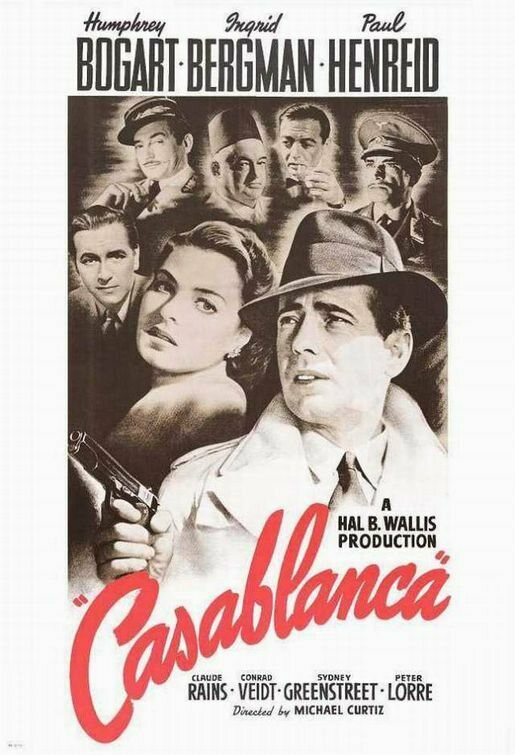 <em>Casablanca</em>, another film where the Mid-Atlantic accent can be heard.