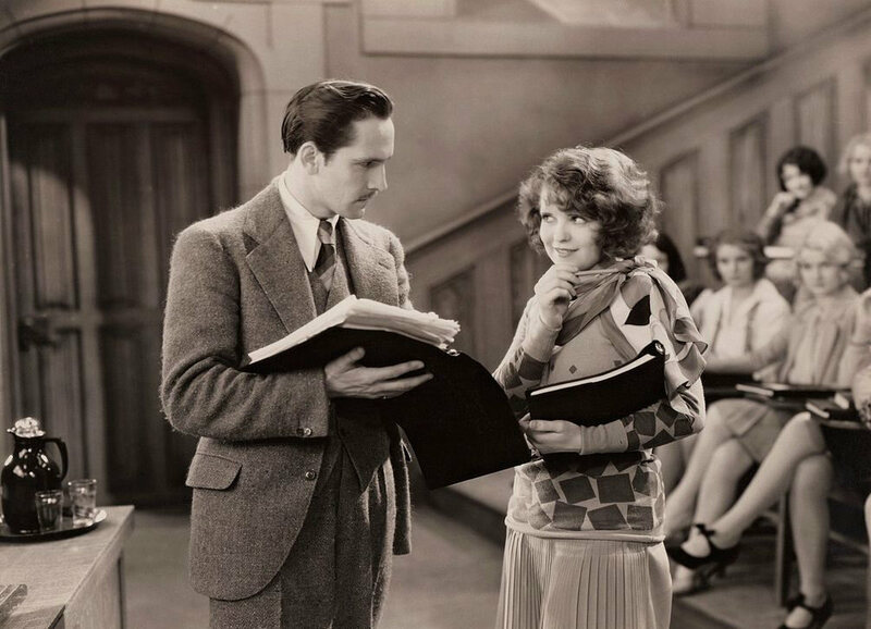 Clara Bow in her first talkie <em>The Wild Party</em>. Audiences struggled with her accent.