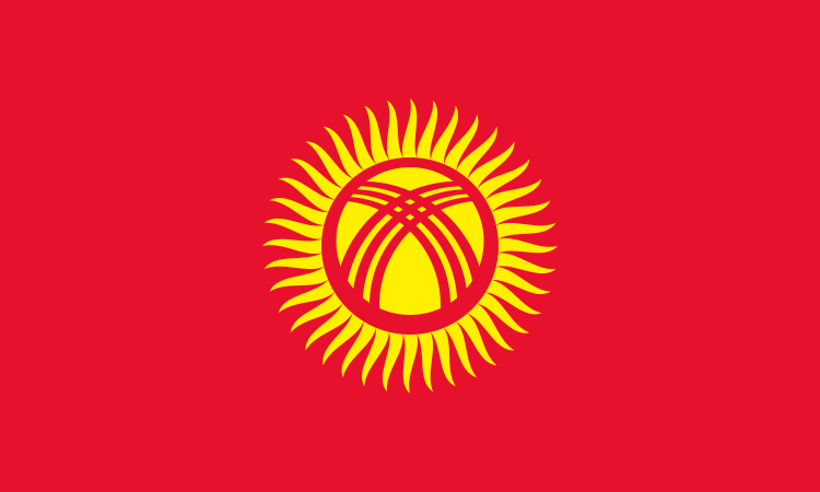Without proper context, Kyrgyzstan's flag looks almost like a corporate logo.