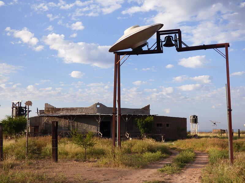 Entrance to the Palacios ranch.