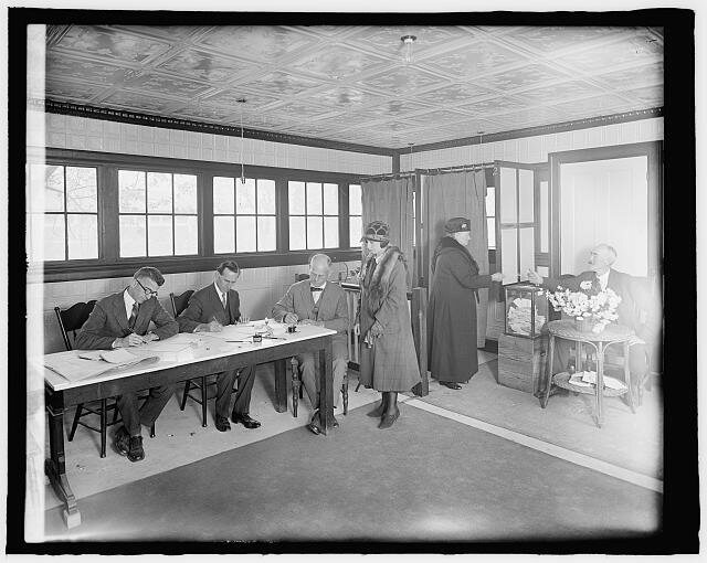 A Maryland polling station, 1924