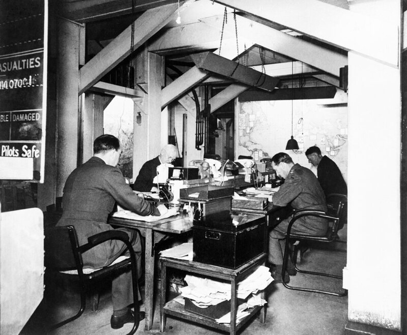 The map room, 1945.