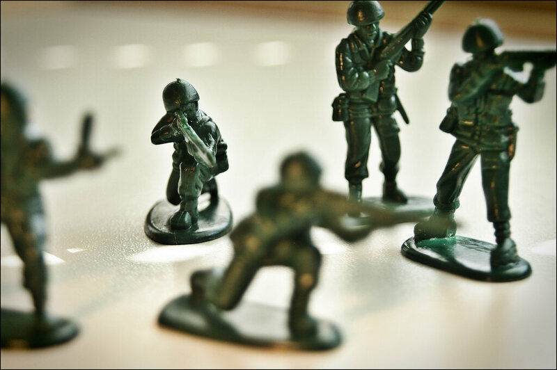 Toy army soldiers.
