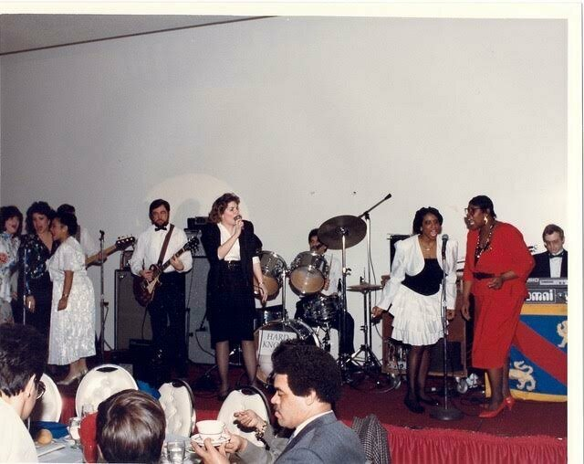 Talisa Solo with FAA chorale, 1989.