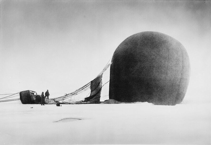 No one knew what became of S. A. Andrée balloon expedition until remains of the crew's camp were discovered over 30 years later