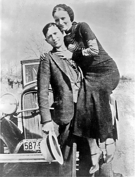 Bonnie Parker and Clyde Barrow- two of America's most feared and beloved bank robbers, ca 1932.