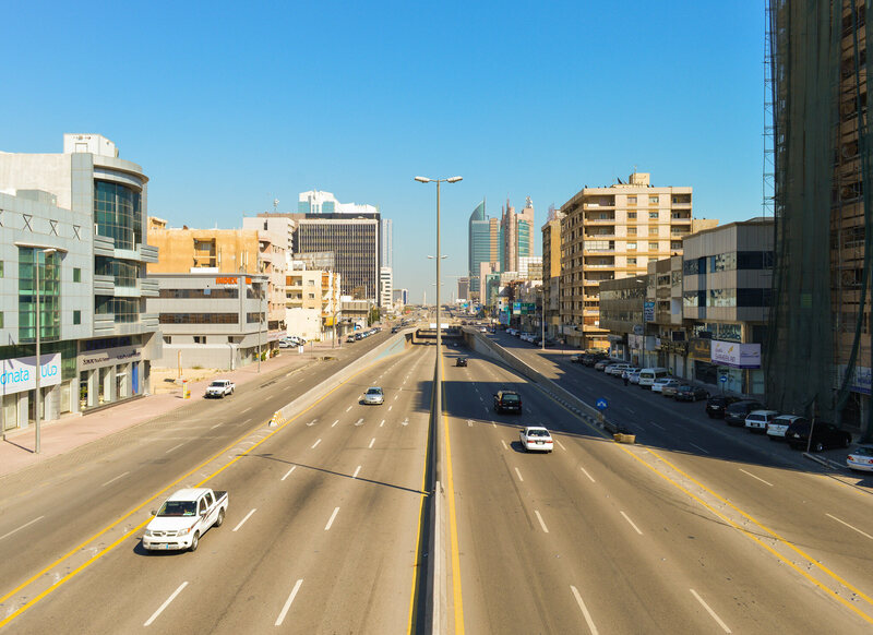 King Fahd Road in Saudi Arabia.