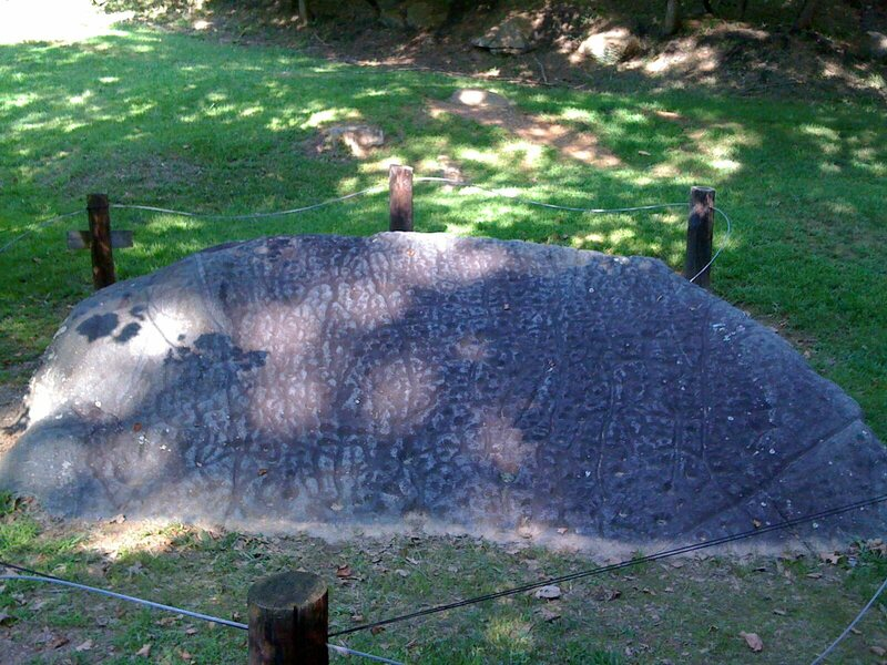 The Judaculla Rock petroglyph located in Jackson County, NC.