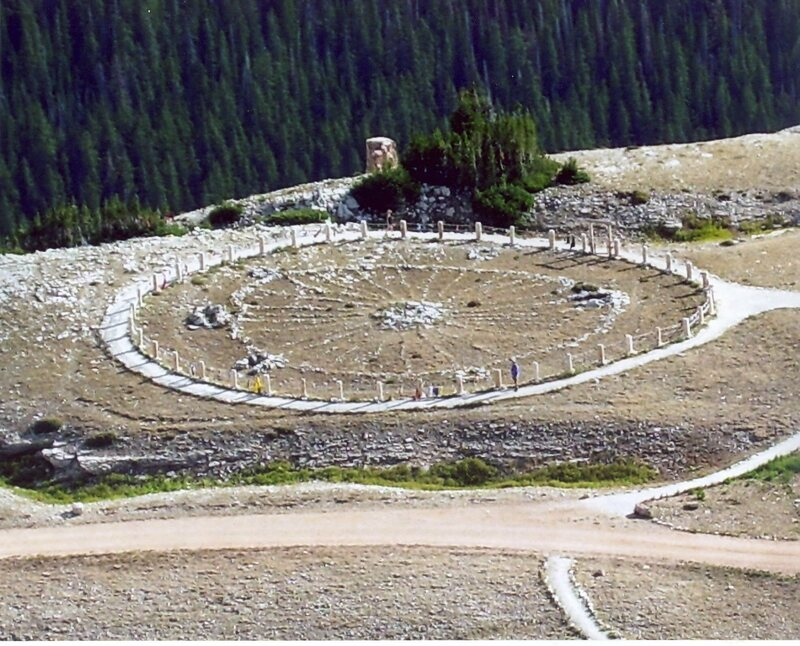 Medicine Wheel, an American Indian sacred site in Wyoming.