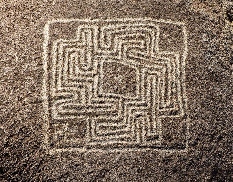 Hemet Maze Carving.
