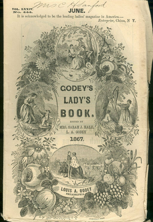 The cover of Godey's Lady's Book in 1867.