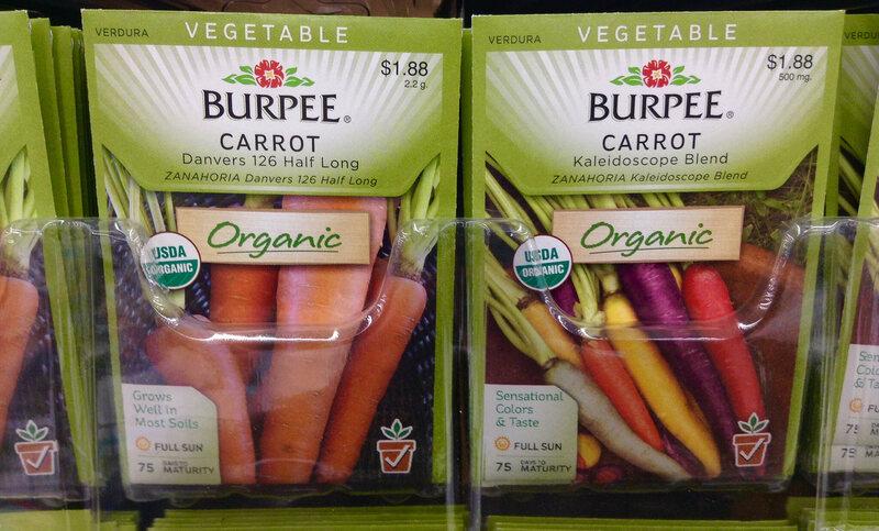 Organic seeds on sale.
