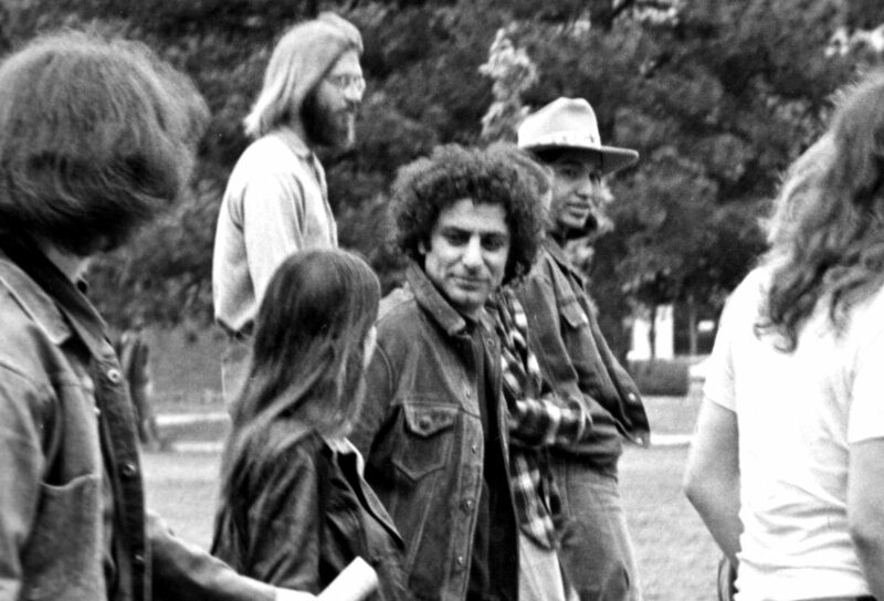 Abbie Hoffman in 1969 protesting the Vietnam War.