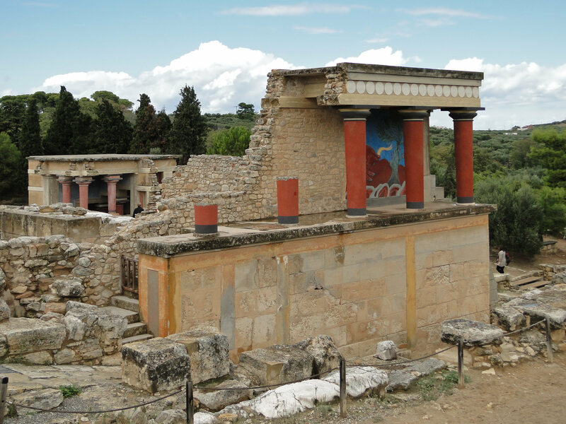 The ruins of Knossos.
