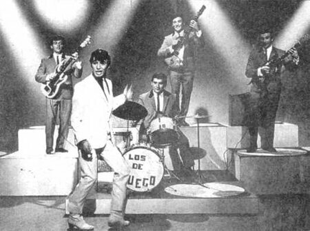 Popular national rock band, <em>Sandro y Los de Fuego</em>. National rock replaced tango as the country's most popular genre from the 1960s to the 1980s.