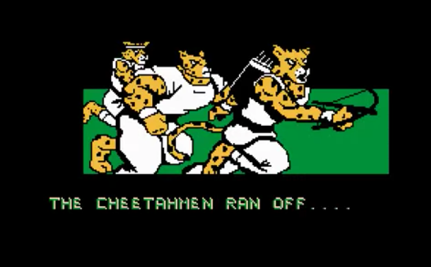 A screengrab of Cheetahmen.